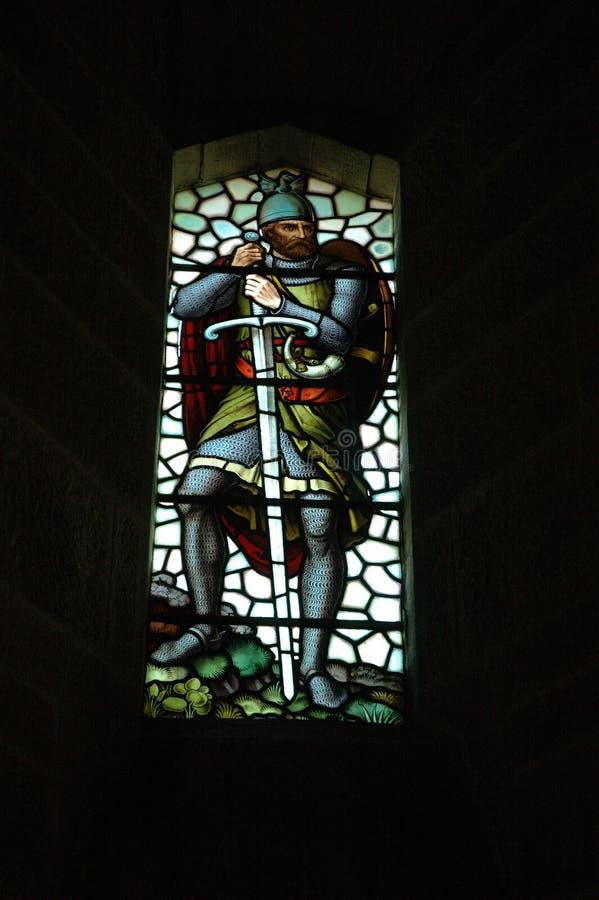 ventana del Mancha de óxido-vidrio, monumento de Wallace fotos de archivo libres de regalías