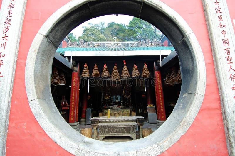 Ventana del templo foto de archivo