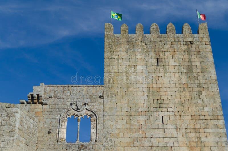 Ventana en el castillo de Belmonte, distrito del estilo de Manueline de Guarda portugal fotos de archivo libres de regalías