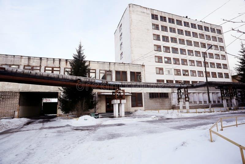 Ventana en un edificio industrial fotografía de archivo