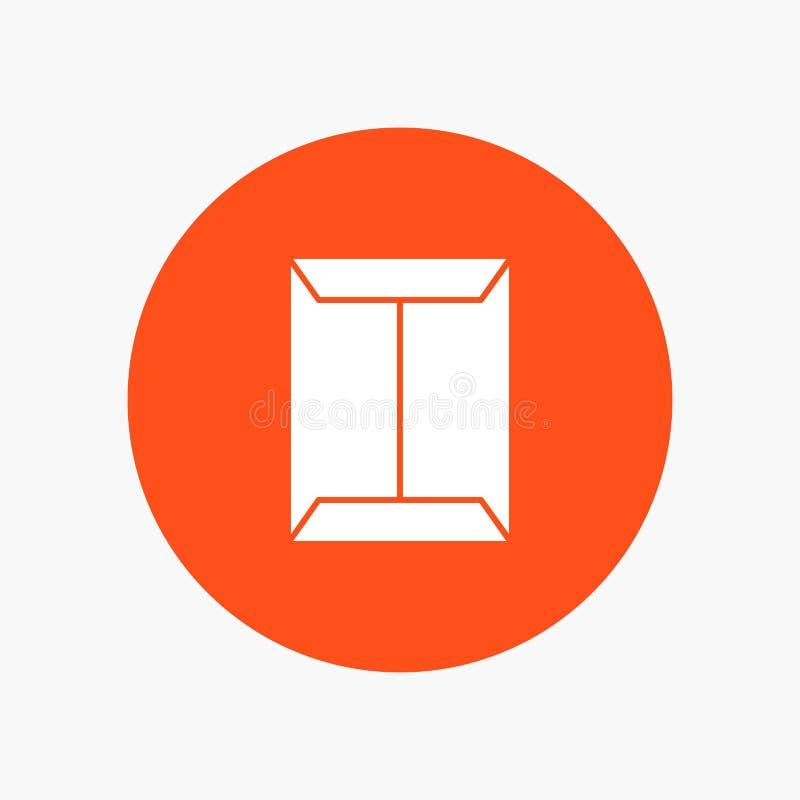 Ventana, estante, abierto, armario, caja stock de ilustración