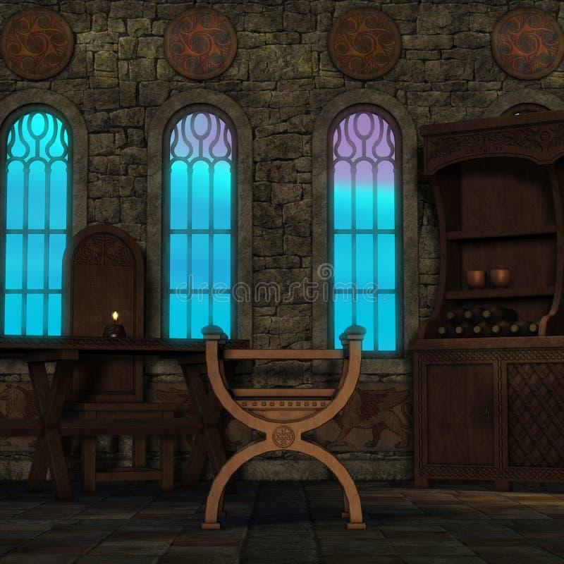 Ventana mágica en una configuración de la fantasía libre illustration