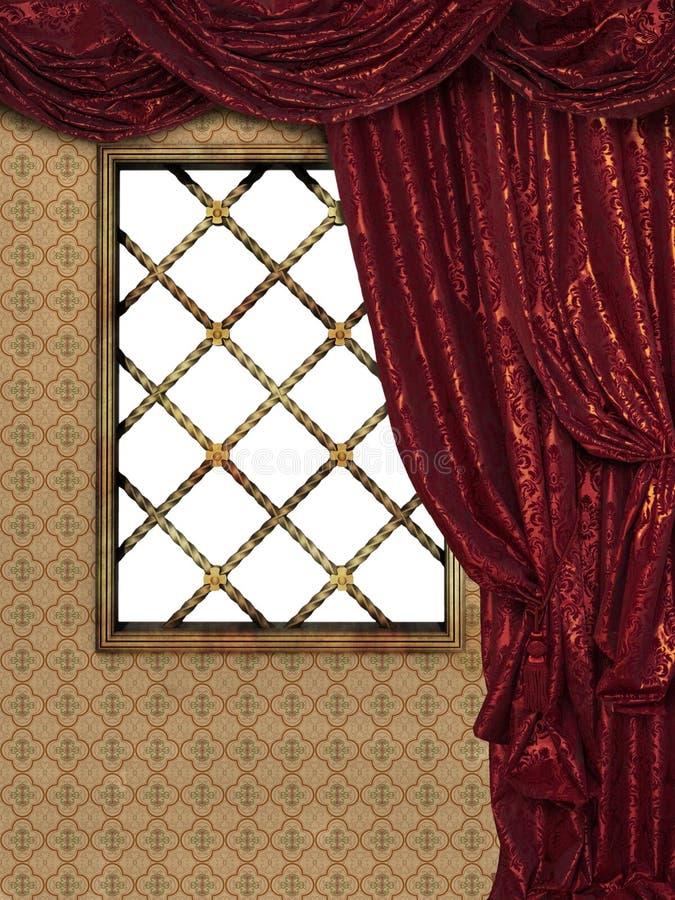 Ventana medieval ilustración del vector