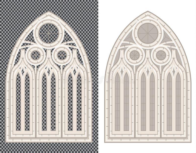 Ventana medieval gótica en el fondo blanco y transparente libre illustration