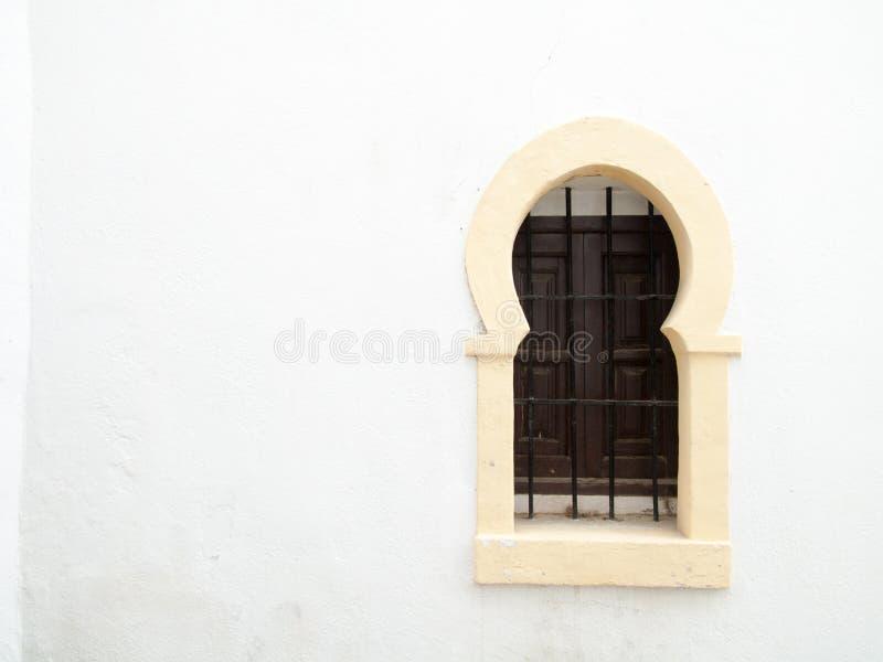 Ventana mora Granada, Andalucía, España foto de archivo
