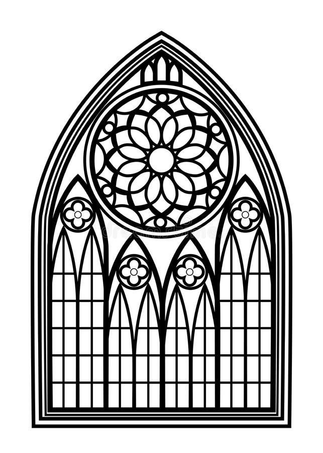 Ventana para las iglesias y los monasterios ilustración del vector