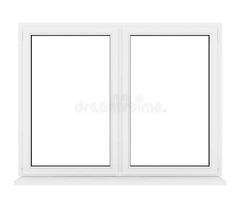 Ventana plástica cerrada stock de ilustración