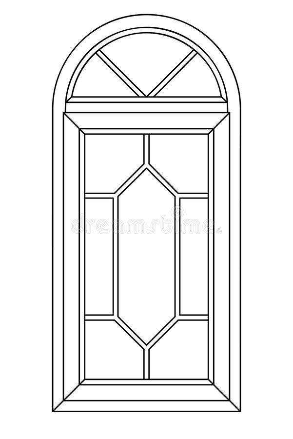 Ventana planimétrica 3 del arco imágenes de archivo libres de regalías