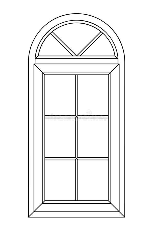 Ventana planimétrica del arco fotos de archivo