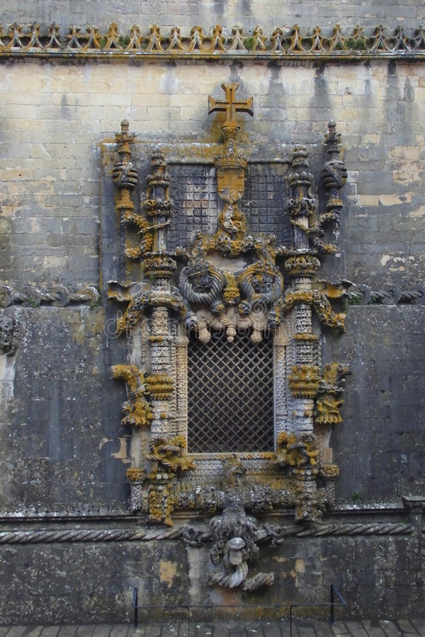 Ventana Tomar Portugal de Manueline fotografía de archivo libre de regalías