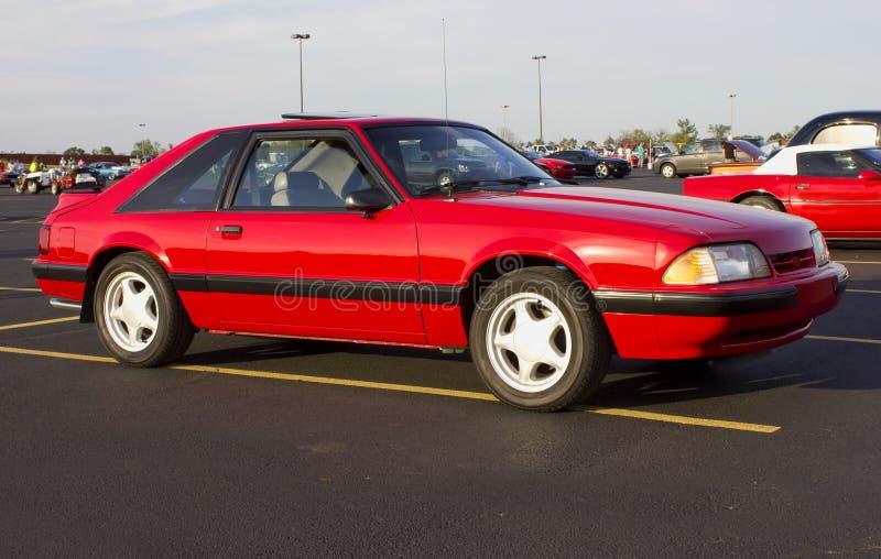 Ventana trasera 1989 de GT del mustango de Ford fotografía de archivo