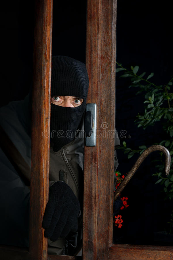 Ventana tres del ladrón foto de archivo libre de regalías
