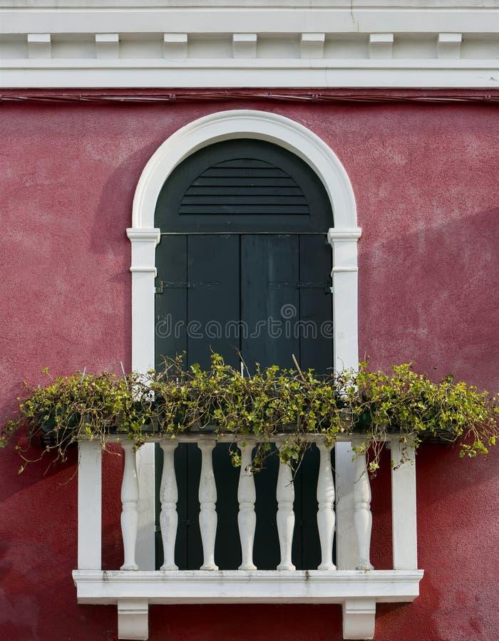 Ventana veneciana fotografía de archivo
