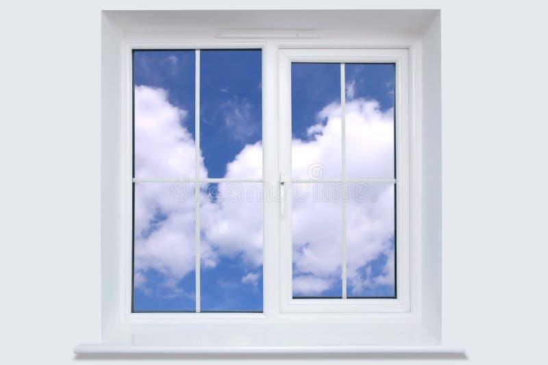 Ventana y cielo azul fotografía de archivo libre de regalías