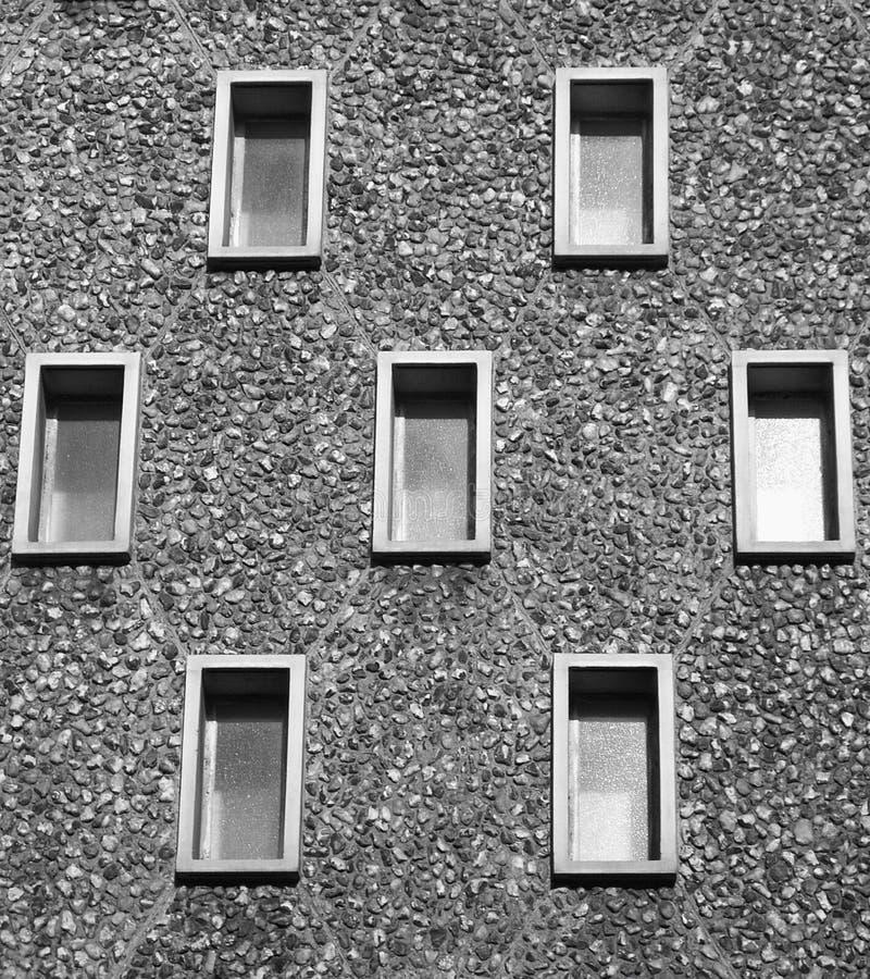 7 ventanas imagen de archivo