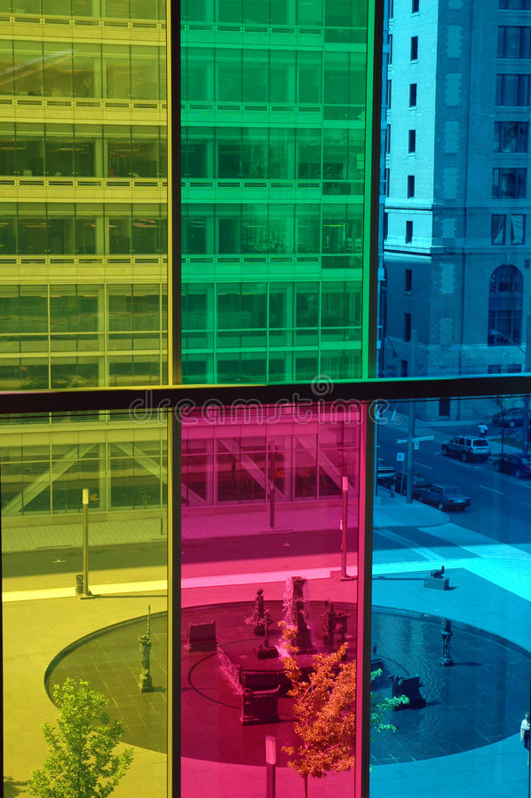 Ventanas coloreadas imagenes de archivo
