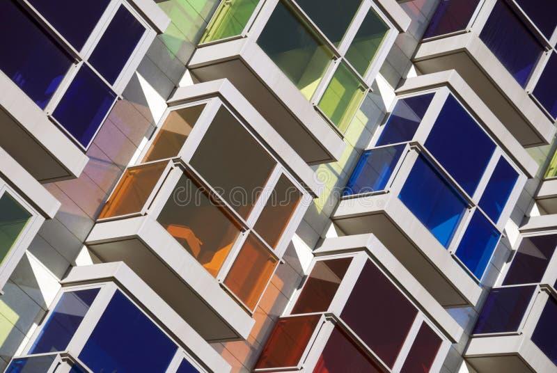 Ventanas coloreadas fotografía de archivo libre de regalías
