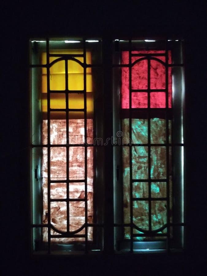 Ventanas coloreadas imagen de archivo