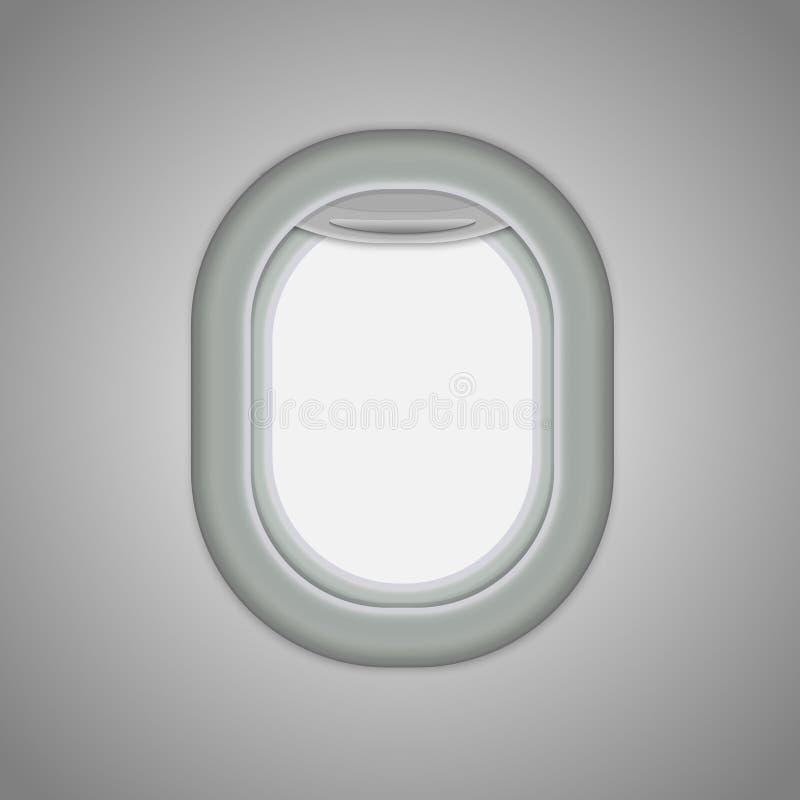 Ventanas del aeroplano stock de ilustración