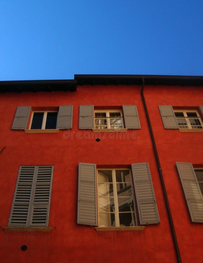 Ventanas italianas fotos de archivo libres de regalías