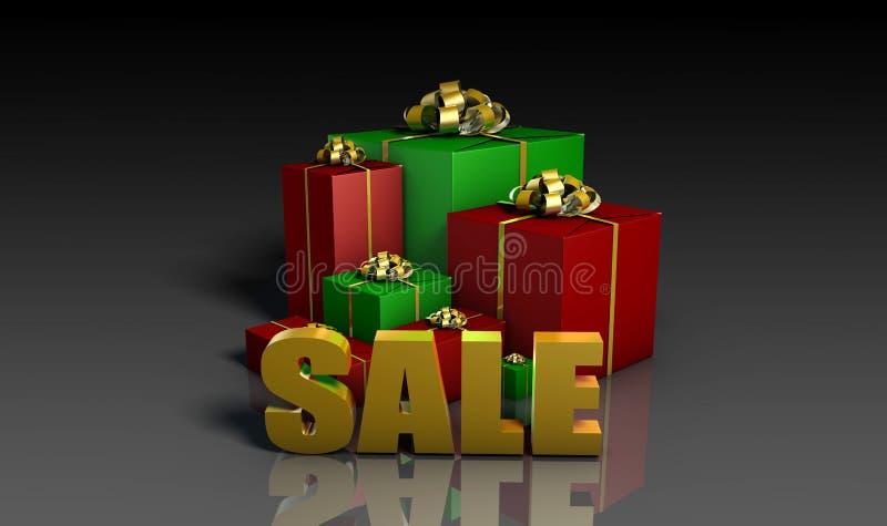 Ventas de la Navidad stock de ilustración