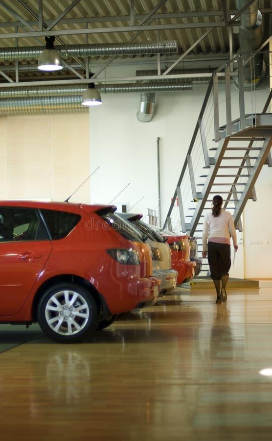 Ventas del coche interiores imagen de archivo libre de regalías