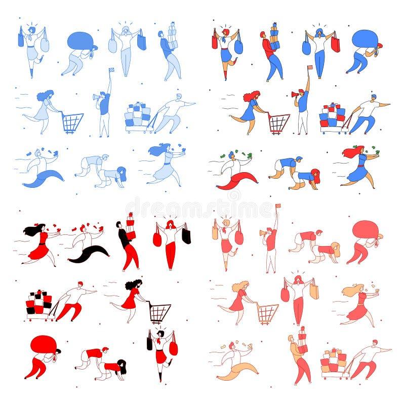 Ventas grandes fijadas libre illustration