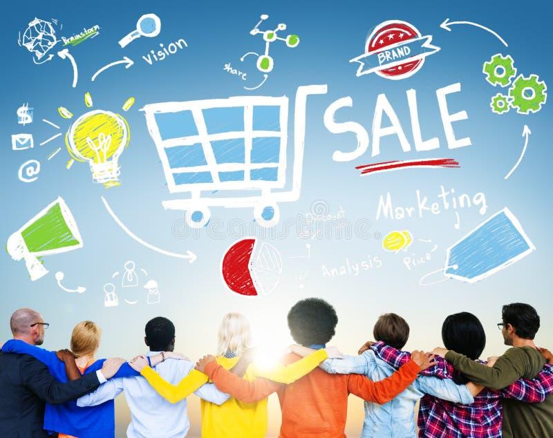 Ventas que venden concepto del pago de la renta de los ingresos de las finanzas imagen de archivo libre de regalías