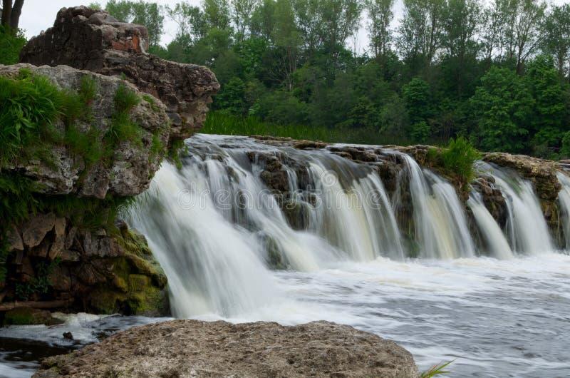 Ventas Rumba waterfall at Kuldīga, Latvia. Small waterfall on river Venta at Kuldīga, Latvia royalty free stock image