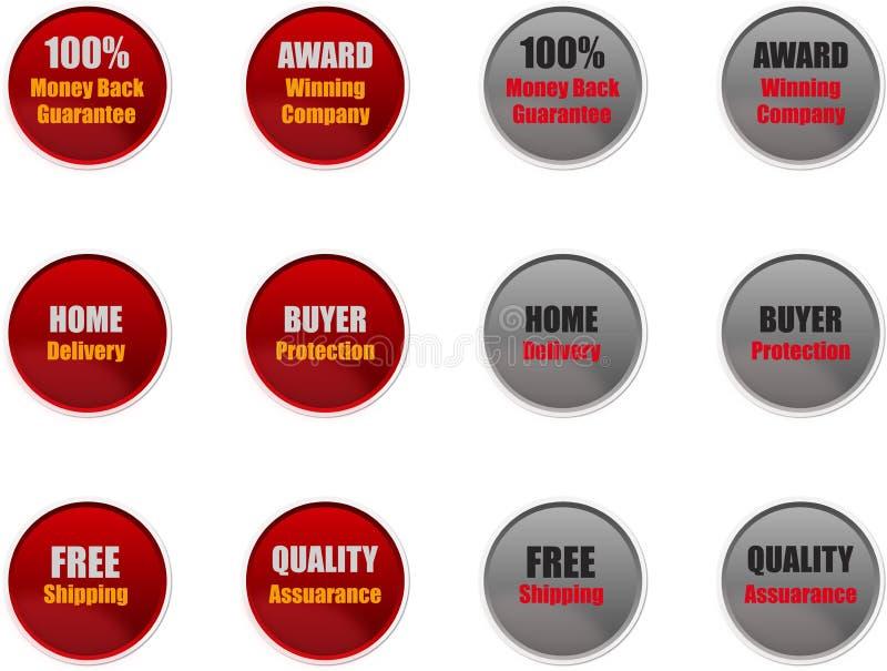 Ventas y insignias del márketing para los sitios web foto de archivo