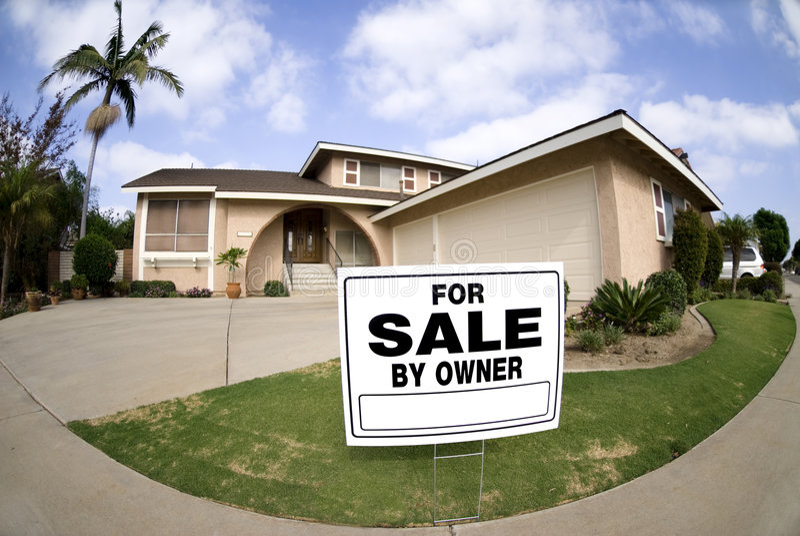 vente à la maison photographie stock