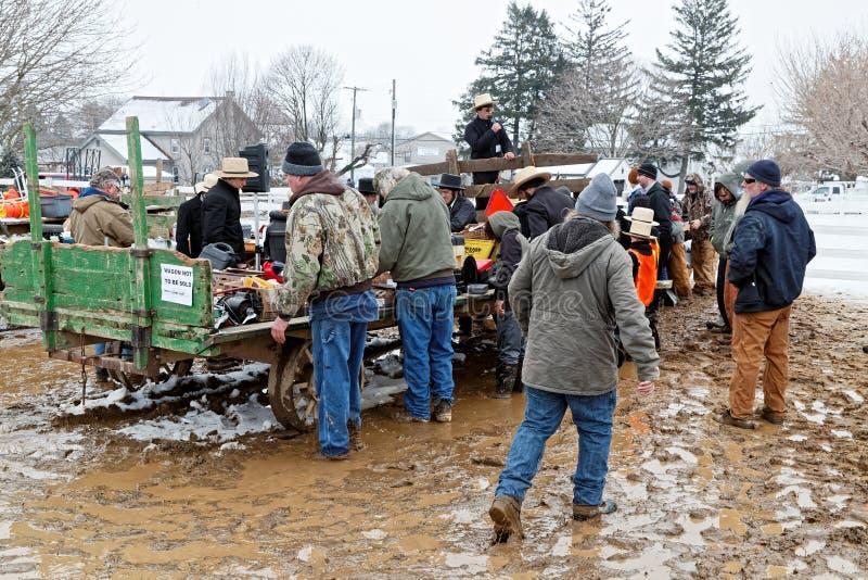 Vente amish de boue du comté de Lancaster photos libres de droits