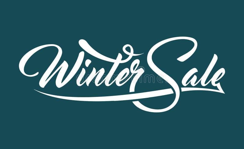 Vente blanche d'hiver des textes illustration stock