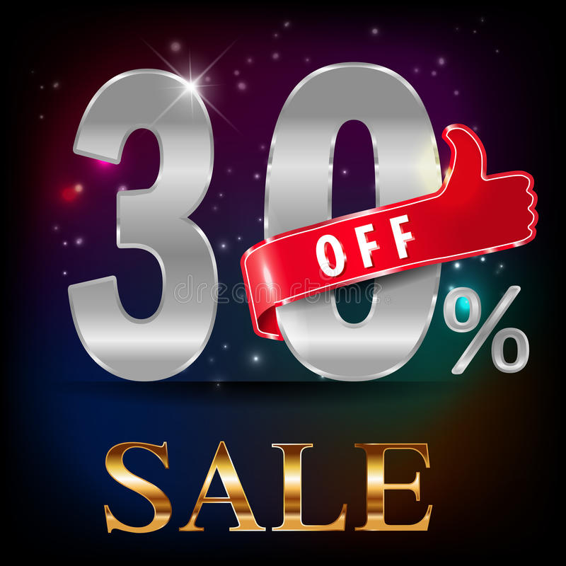 30%, vente chaude de remise de 30 ventes avec l'offre spéciale illustration stock