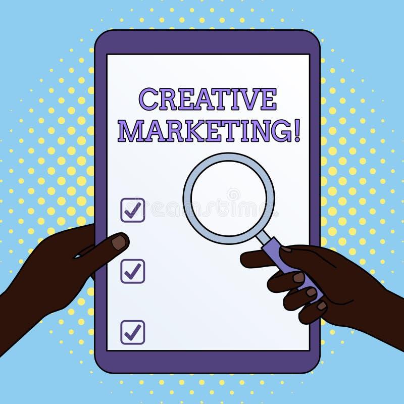 Vente cr?ative des textes d'?criture de Word Concept d'affaires pour que faire campagne rencontre les mains de publicité de condi illustration stock