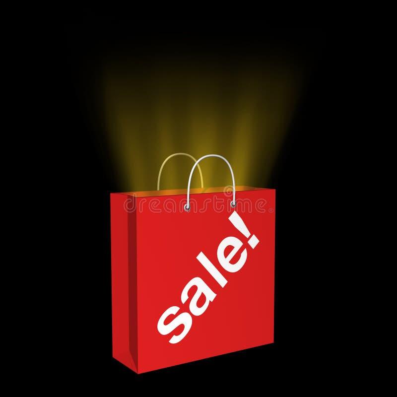 vente d'or de sac illustration de vecteur