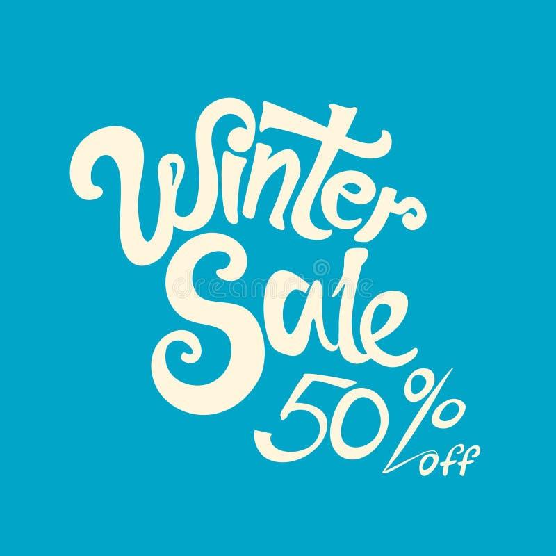 Vente 50% d'hiver  illustration stock