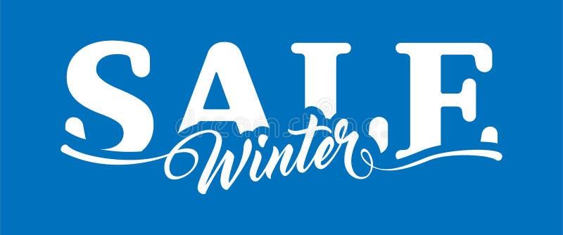 Vente d'hiver d'inscription illustration stock