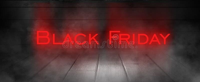 Vente de Black Friday, bannière, affiche images stock
