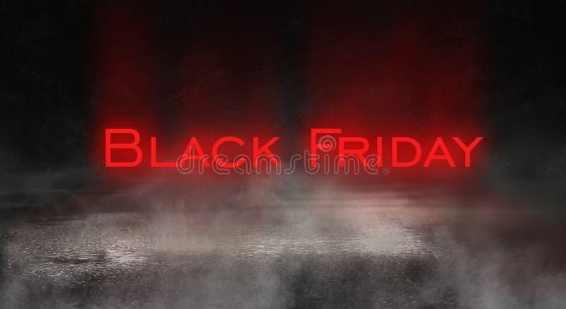 Vente de Black Friday, bannière, affiche photographie stock libre de droits