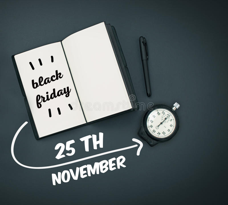 Vente de Black Friday - concept d'achats de vacances photo libre de droits