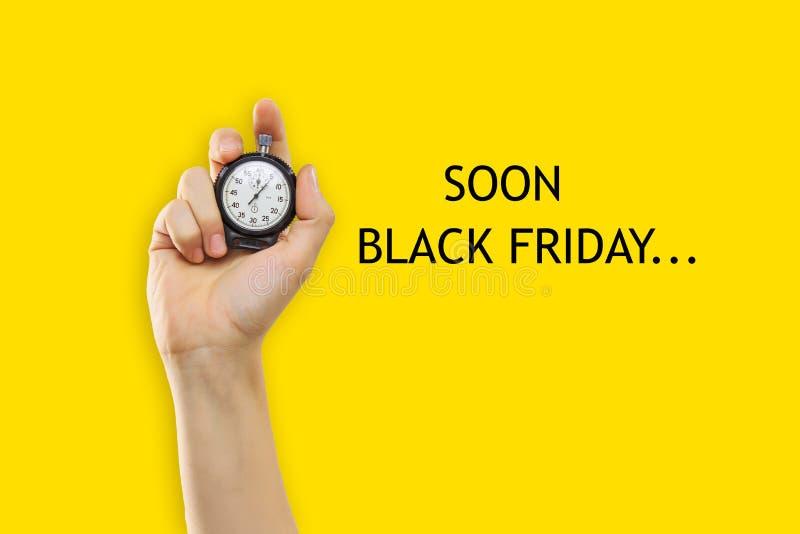 Vente de Black Friday - concept d'achats de vacances photographie stock libre de droits