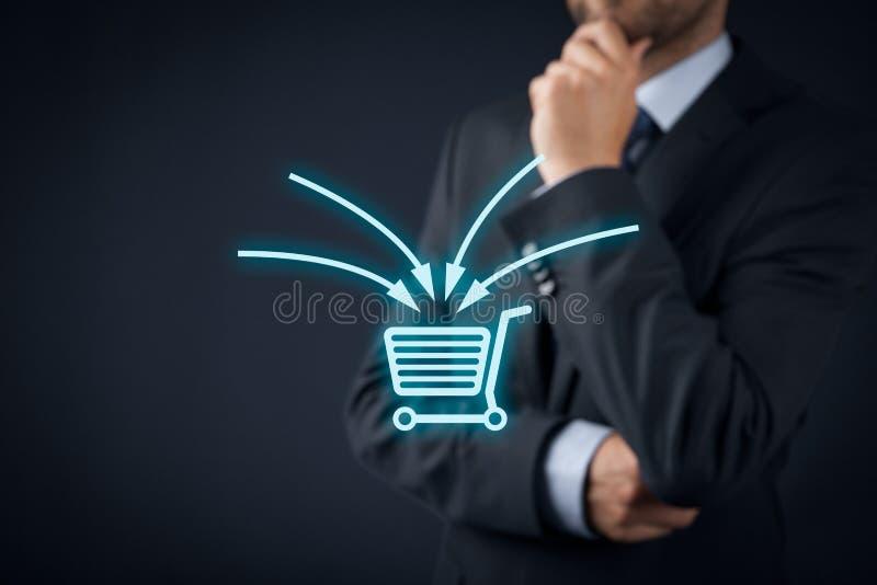Vente de commerce électronique image stock