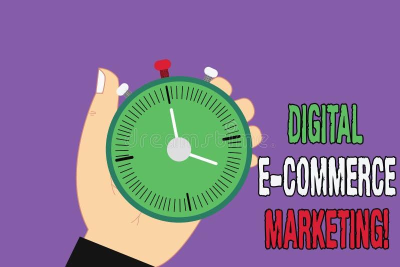 Vente de commerce électronique de Digital des textes d'écriture Concept signifiant des achats et la vente des biens et de la main illustration stock