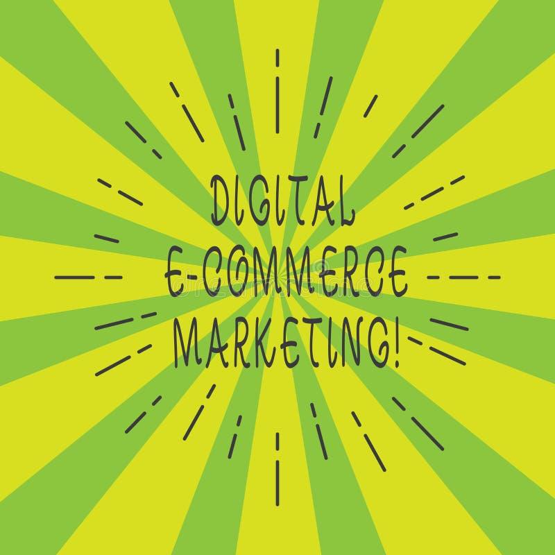 Vente de commerce électronique de Digital des textes d'écriture Concept signifiant des achats et la vente des biens et de la pout illustration de vecteur