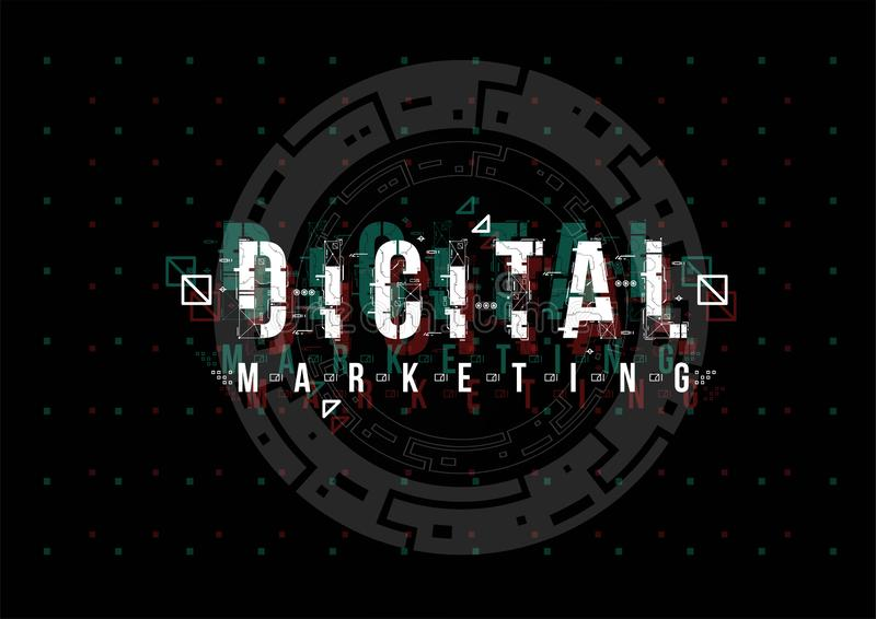 Vente de Digital Disposition conceptuelle avec des éléments de HUD pour la copie et le Web Lettrage avec l'interface utilisateurs photo libre de droits