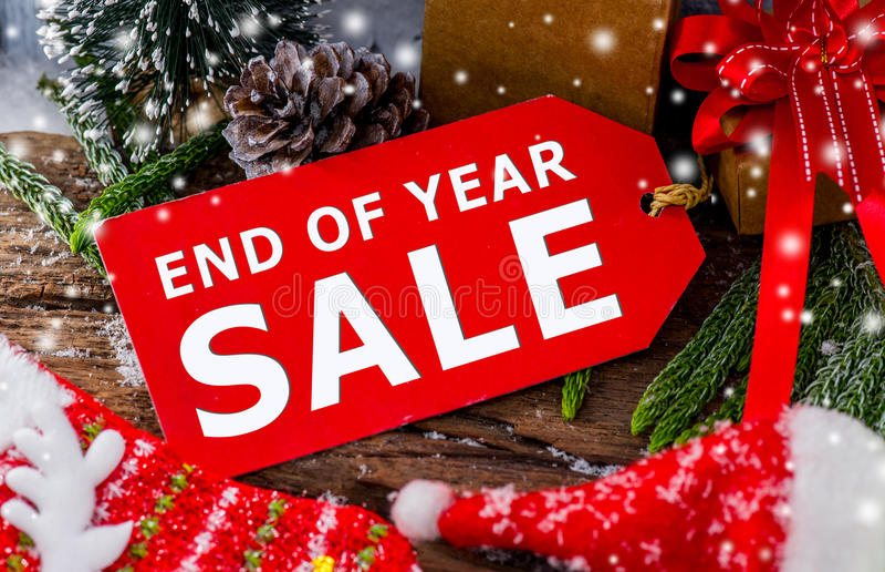 Vente de fin d'année photos stock