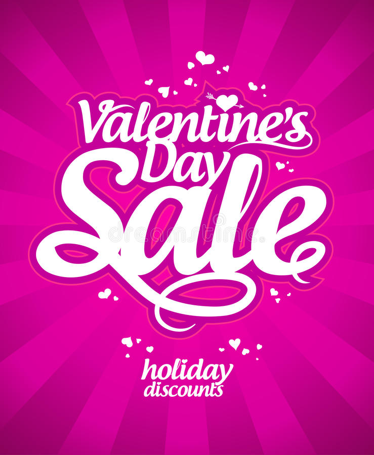 Vente de jour du ` s de Valentine. illustration stock