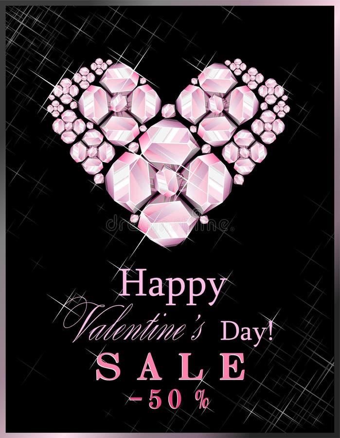 Vente de jour du ` s de Valentine illustration stock