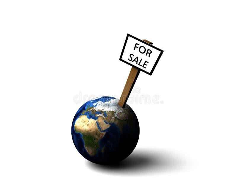 vente de la terre illustration stock